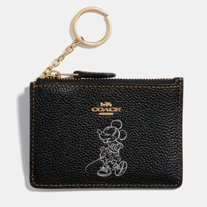 🆕Coach Minnie Mouse Mini Skinny Id Case